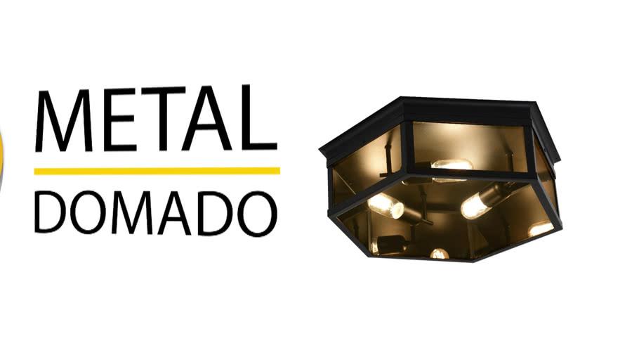 PLAFON COLONIAL CLASS 40CM 5657 - METAL DOMADO ILUMINAÇÃO