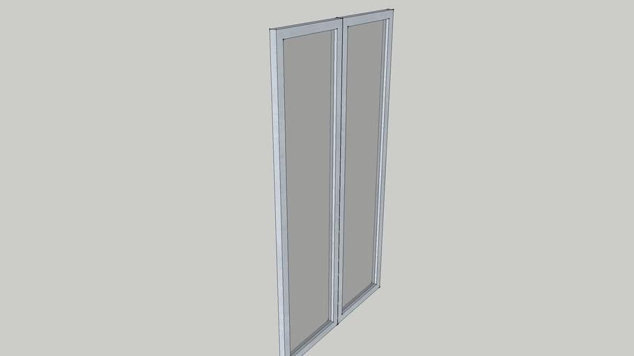 Ikea PAX DRAMMEN Door (silver/white) DOUBLE