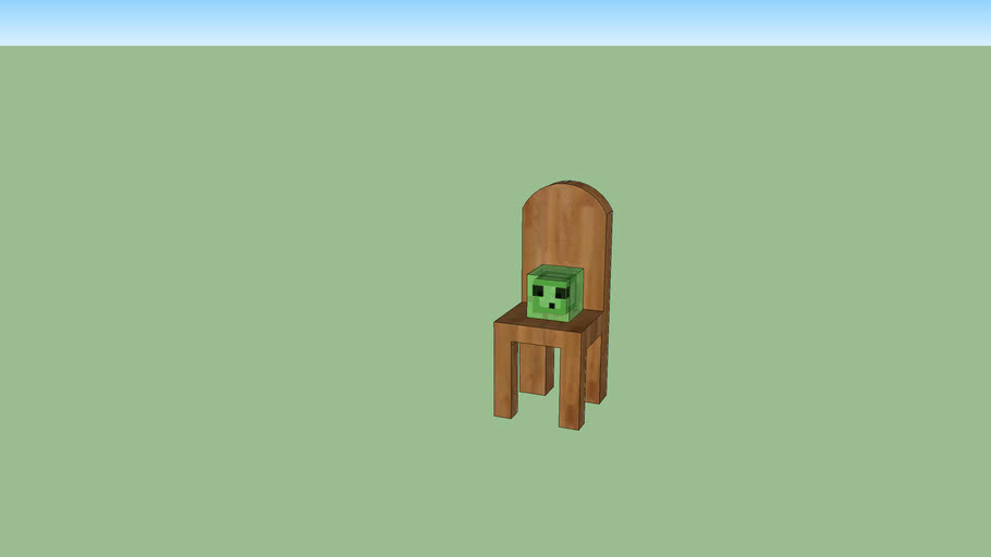 minecraft slime in a chair