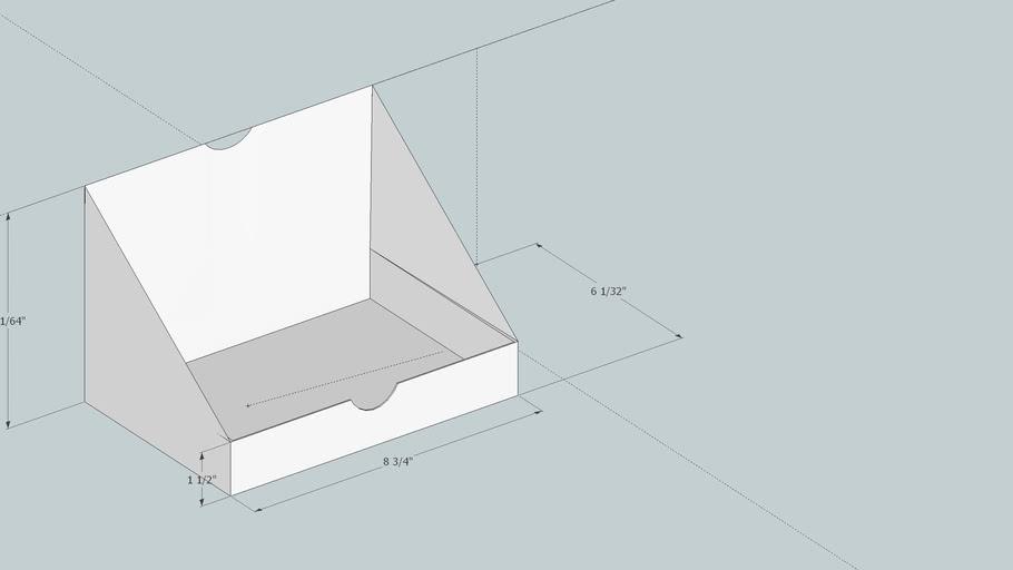Horizontal Book/Booklet Display Box