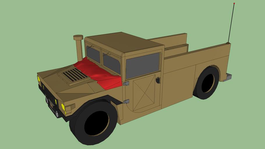 Modefied Open Back Troop Transport Humvee (HMMWV) Desert Tan