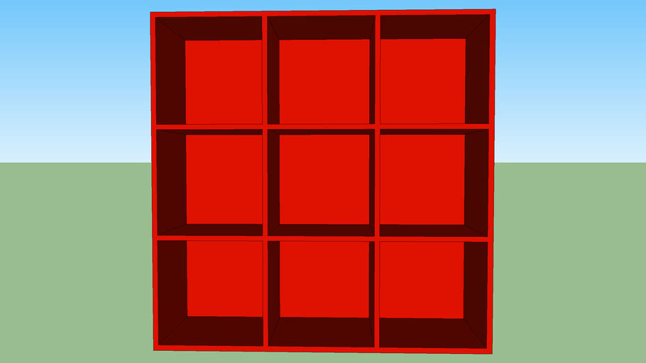 Red cubes 9