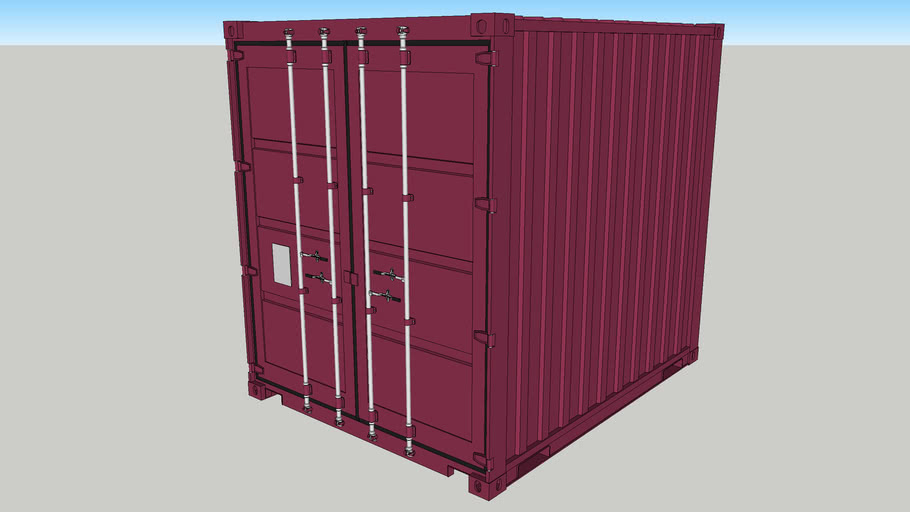 Dry Box - 10ft High Cube Container w/1 Door   3D Warehouse