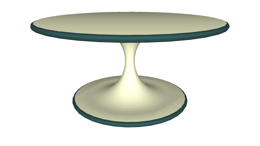 Coffee Table Smooth Plastic - Detailed