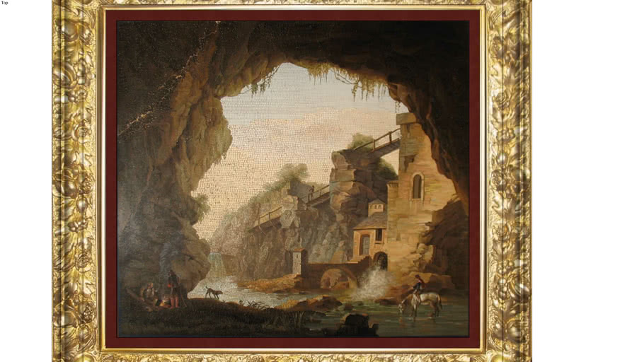 An ancient castle on the river and the river flows through the cave.