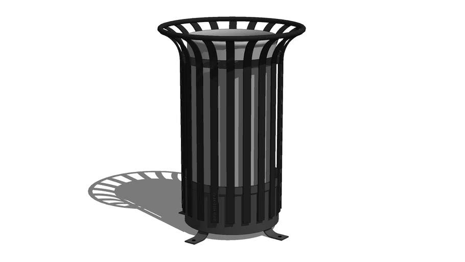 "Rounded trash can ""Vertical"" / Урна уличная круглая «Вертикаль»"
