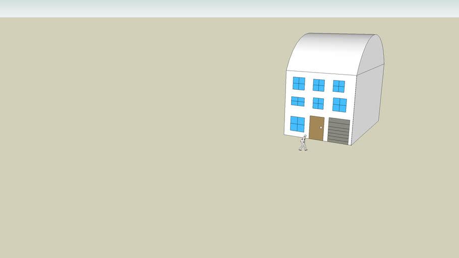 casa de trs pisos