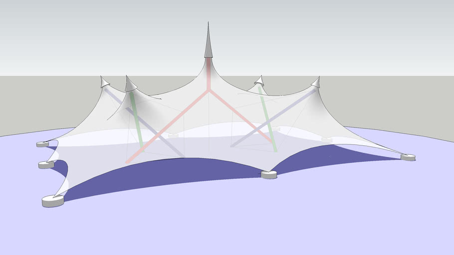 Tent with tensegrity as structure