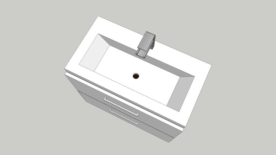 Bathroom cupboard with sink 80x45x70cm
