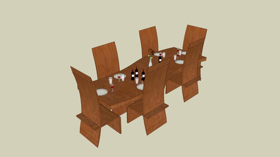 modern diner table