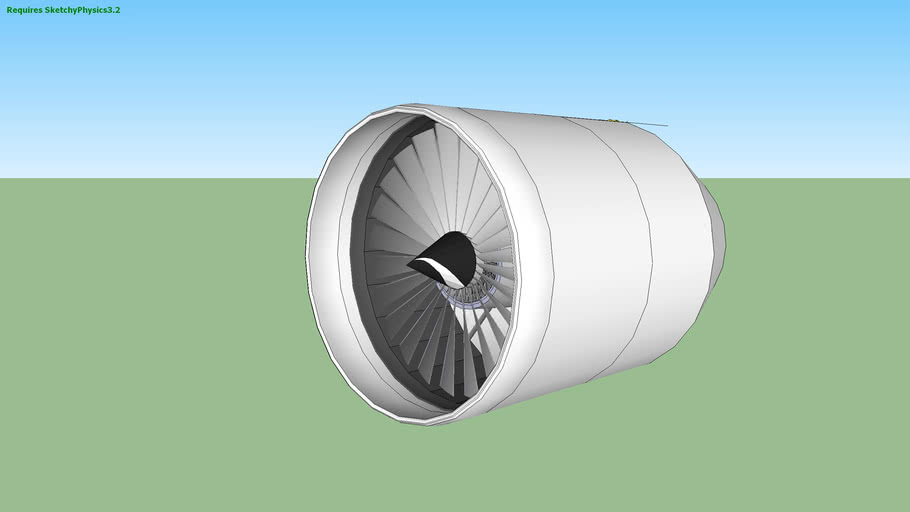 sketchyphysics 3.2 Turbofan jet engine