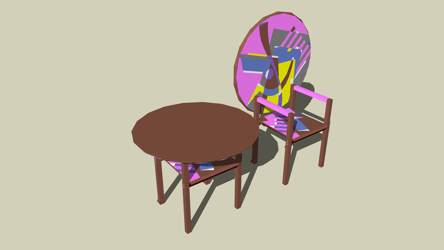 table and chair zanotta