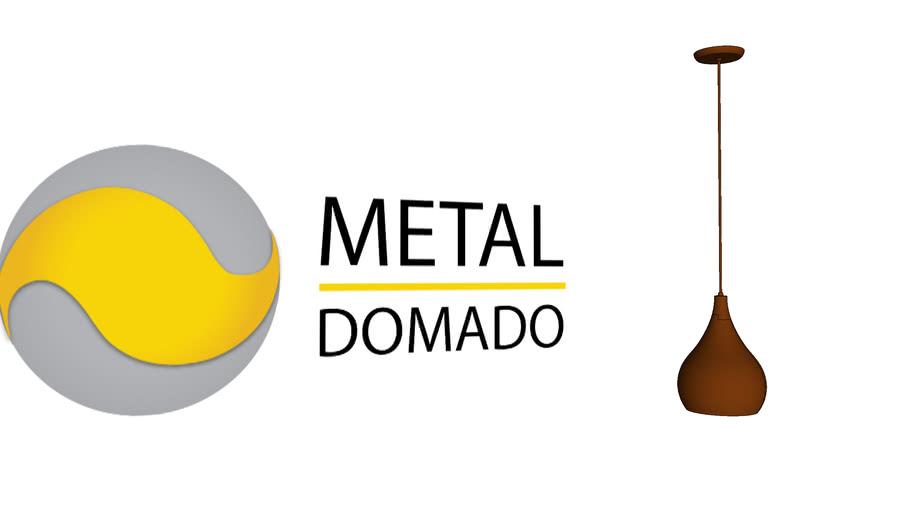 PENDENTE DROP G 5614 - METAL DOMADO ILUMINAÇÃO