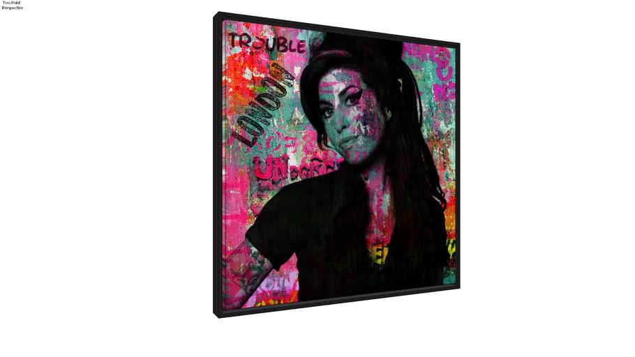 Quadro Amy Winehouse Streetart