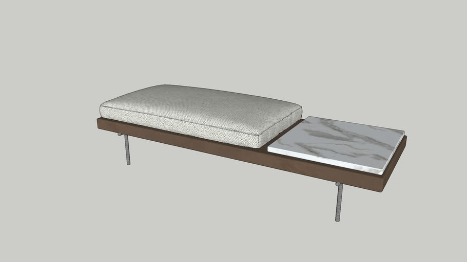marble leather bench