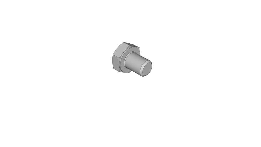 02100597 Hexagon head bolts DIN 933 M6x8