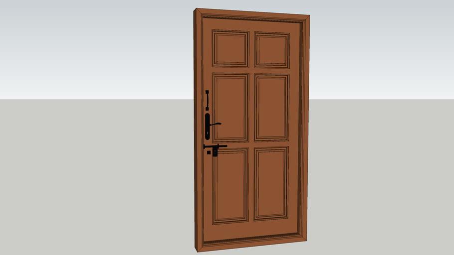 Solid Wooden Entrance Door 3ft 3in x 7ft