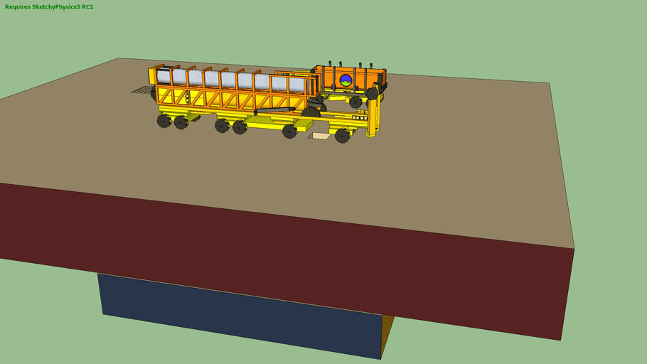 Construction Robot Land Sweeper and a drill