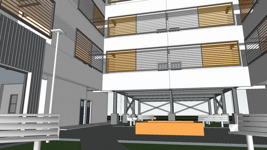 modelo de Edificio de Apartamentos
