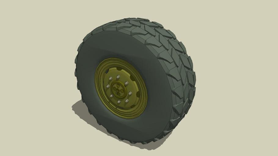 Rad Tire Wheel military style