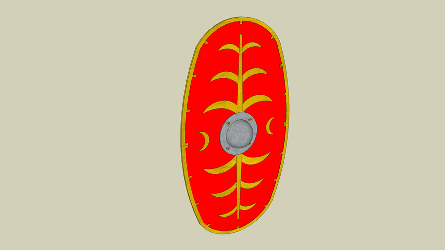 The Roman Cavalry - Oval Shield (1st and 2nd Century AD) - Pattern 1