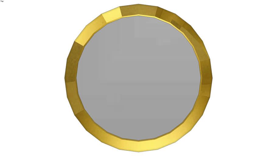 HOME PLUS ESPEJO CIRCULAR 30221 MARCO LABRADO FINO GOLD (66 DIAM)