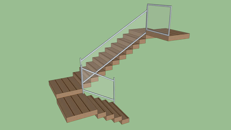 Corrimão e guarda-corpo para escada