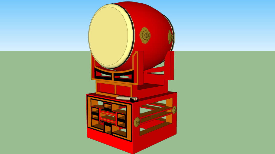 Taiko drum on stand