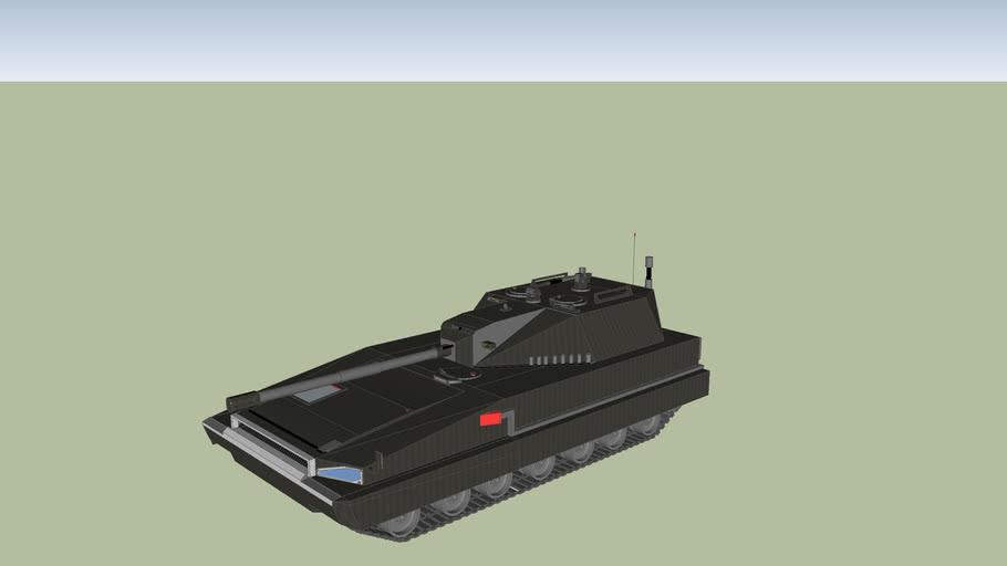 Wieża 105mm(dodatki) na podwoziu andersa (tank)