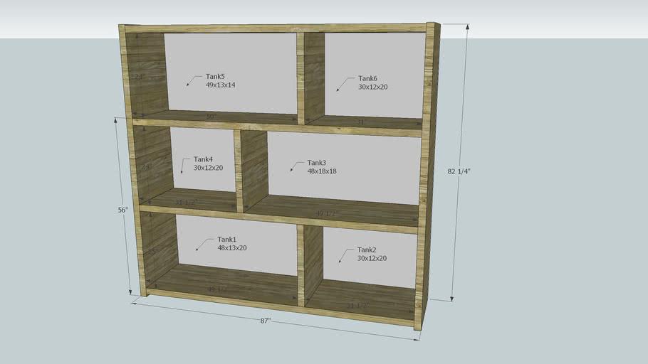 Shelf for 6 tanks