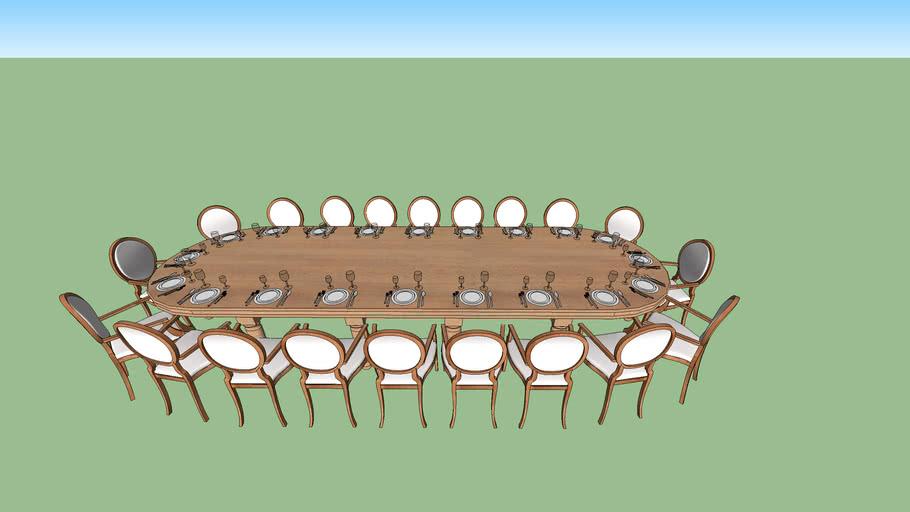 Mesa Jantar 20 lugares