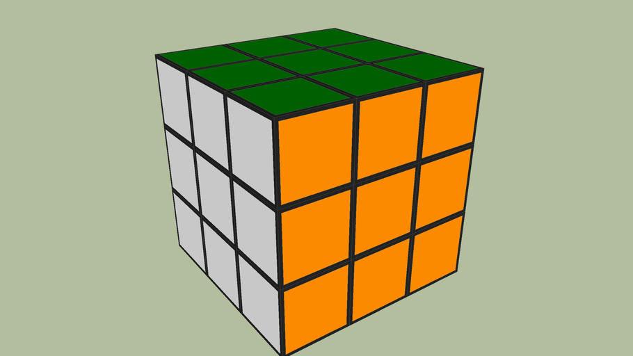 Rubick's Cube  _-_-_-_-_-_  Rotatable.