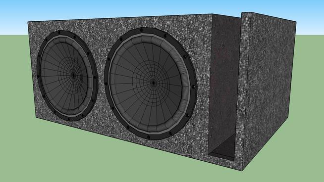 """Dual 12"""" speakerbox w/ speakers"""