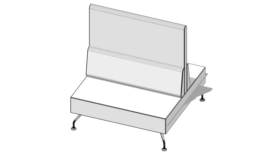 Xf86 Orangebox high back linear with legs