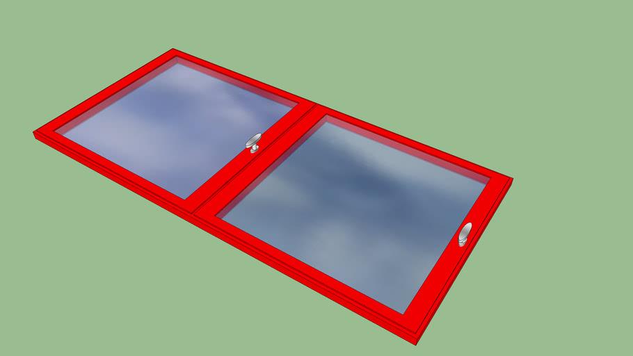 fenêtre rouge 150*70 cm