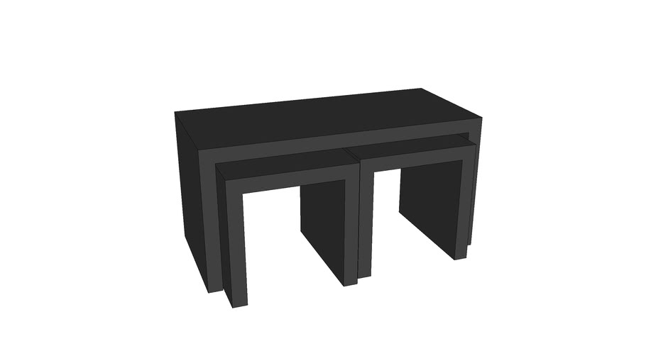 Nesting coffee tables/benches