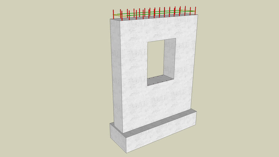 Reinforced Concrete Wall with window opening