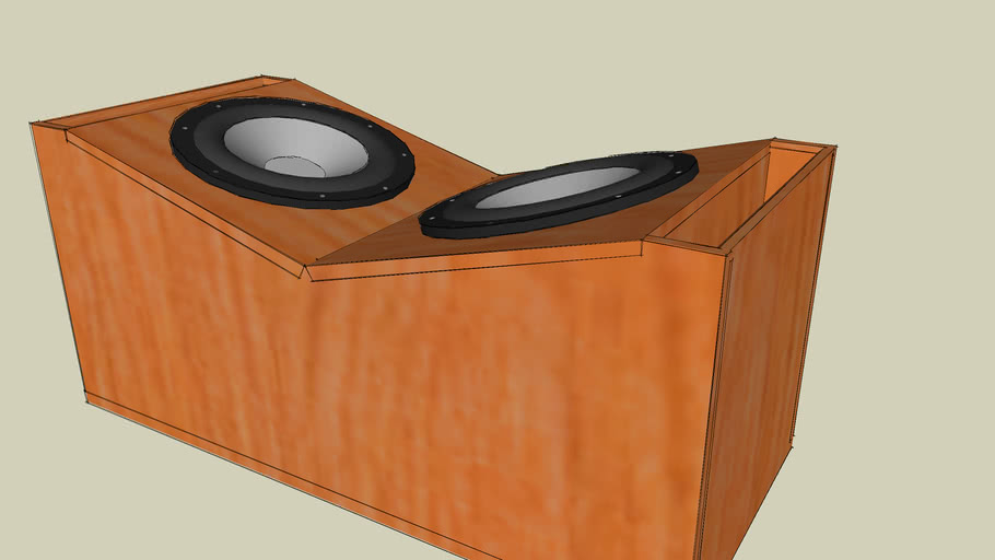 Subwoofer Box with inclination