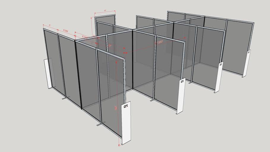 COVID-19 Séparateurs d'espace public AX06