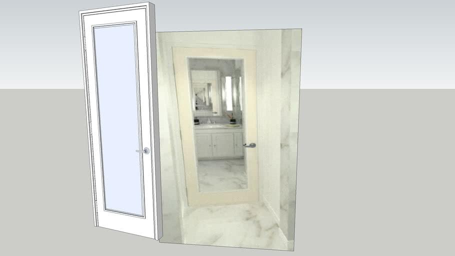Door with Mirror
