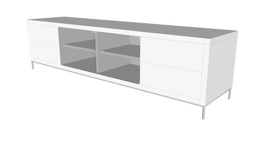 Lenox Media Cabinet In Glossy White By