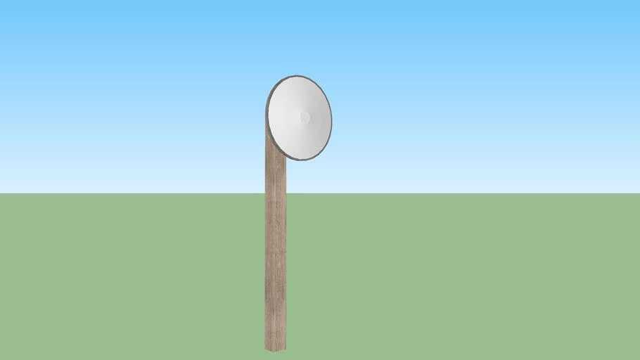 Convex mirror post