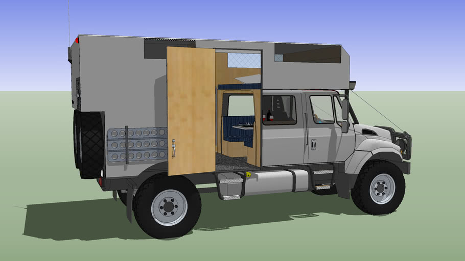 Camper Truck, International III 4x4