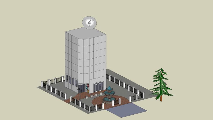 Business Center w/ tree