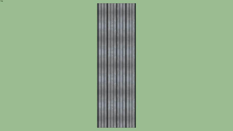 Residantial metal roofing panel