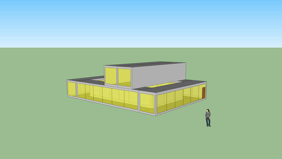 Shipping container house/office model 22