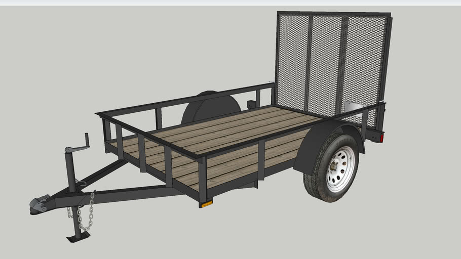 5x8 Landscaping Trailer with Ramp and Wood Deck