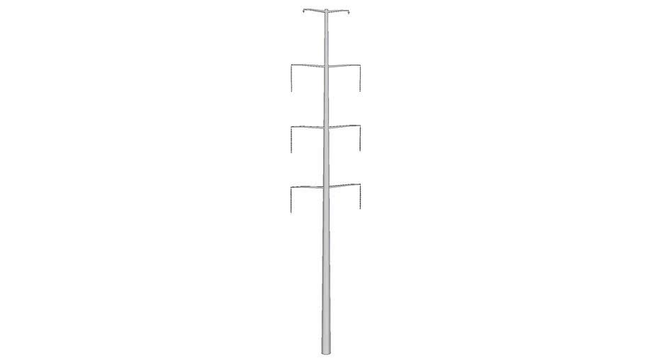 Electrical transmission line single-pole 140'