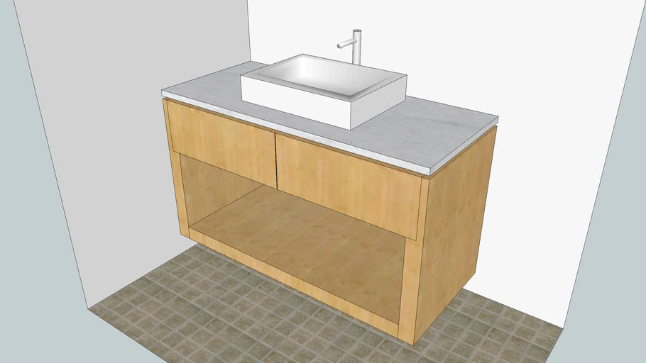 Modern Bamboo Vanity done by Woodworking LA