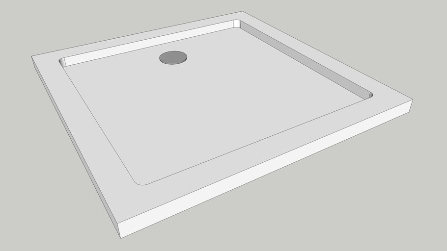 Square Shower Tray W800 x D800 x H40mm